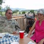 Lyn and Linda Hartman at the fish fry