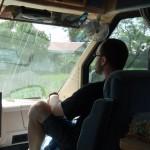 Riding shotgun in the motorhome