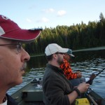 The three of us bass fishing on south lake