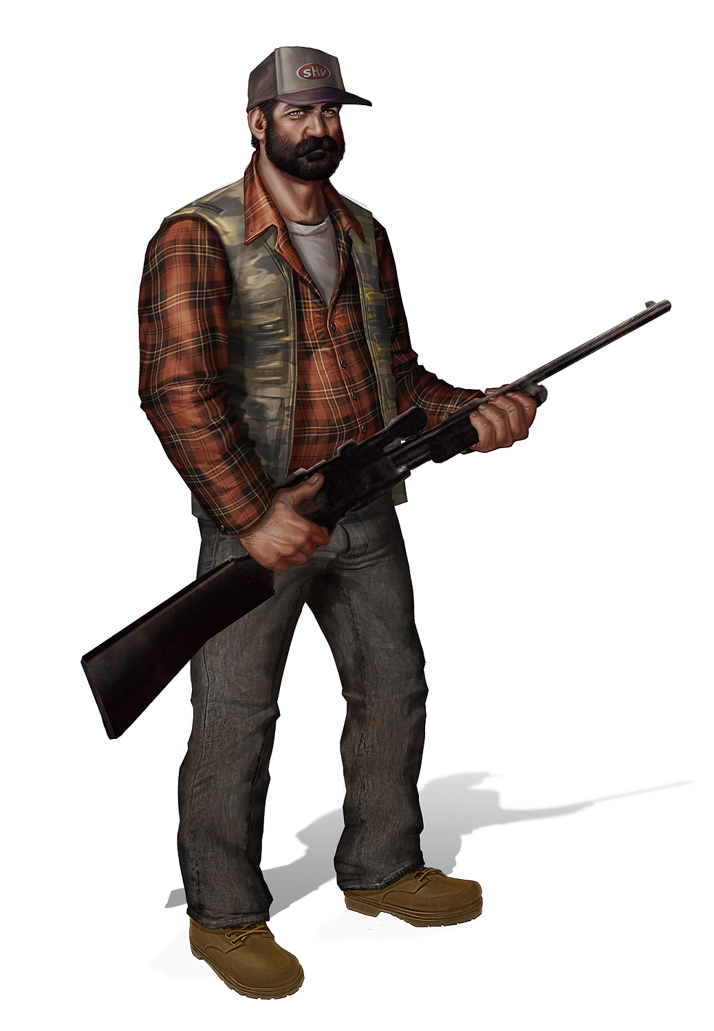 Hunter with Gun