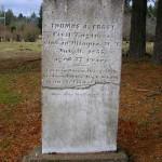 Thomas Frost's headstone