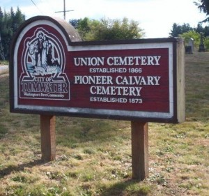 Entrance to Union Pioneer Cemerery
