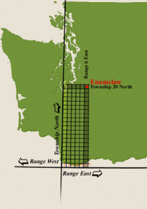 Parceled land from the Willamette Meridian