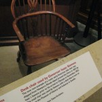 The chair of Isaac Stevens