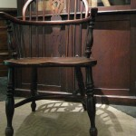 A closer view of Stevens' chair