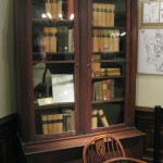 The bookcase and the chair