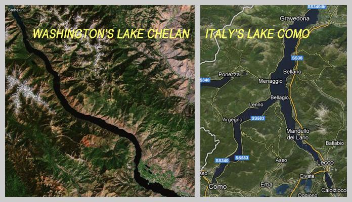 Lakes Chelan and Como