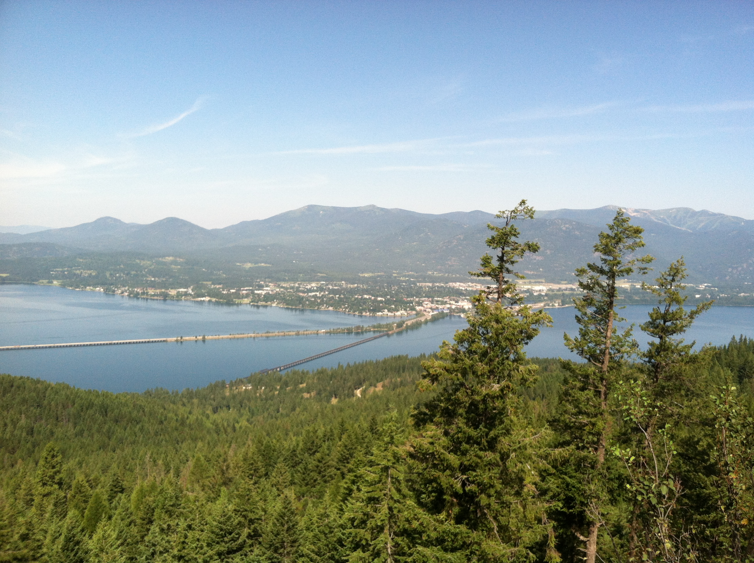 Sandpoint, Idaho, from Gold Hill