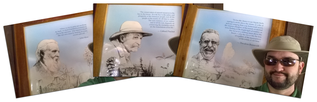 Muir, Pinchot and Roosevelt