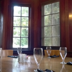 The alcove where Roosevelt and company dined in 1937.