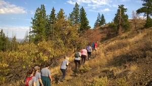 Craig Romano taking us up a trail.