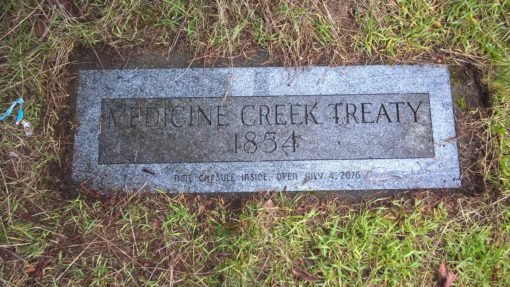 Medicine Creek Treaty marker